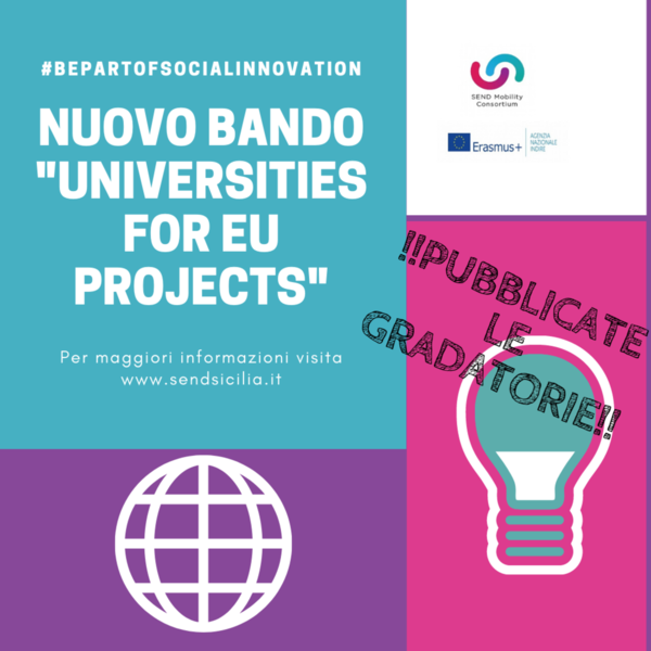 Pubblicazione Graduatorie Bandi Universities_ I^Edizione a.a.2019-2020